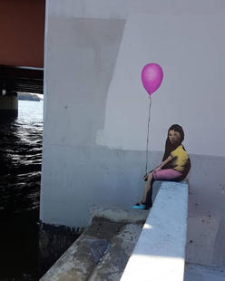 Chilling Alone With a Balloon by Dolus  - April 2018