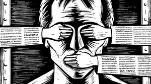 Freedom of speech v censorship - the suppression of speech or public communication and raises issues of freedom of speech