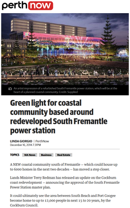 Green light for coastal community based around redeveloped South Fremantle power station