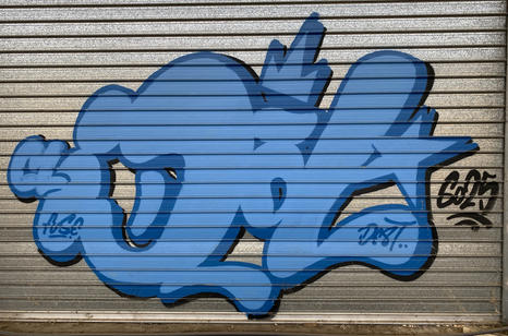 16 - A graffiti tag at the abandoned Fremantle Freight & Storage Warehouse - 02 April 2021
