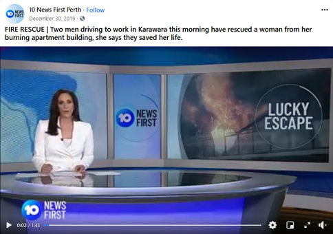 Channel 10 News Fire Rescue Facebook Vid