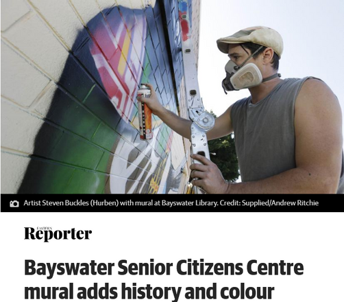Bayswater Senior Citizens Centre mural adds history and colour