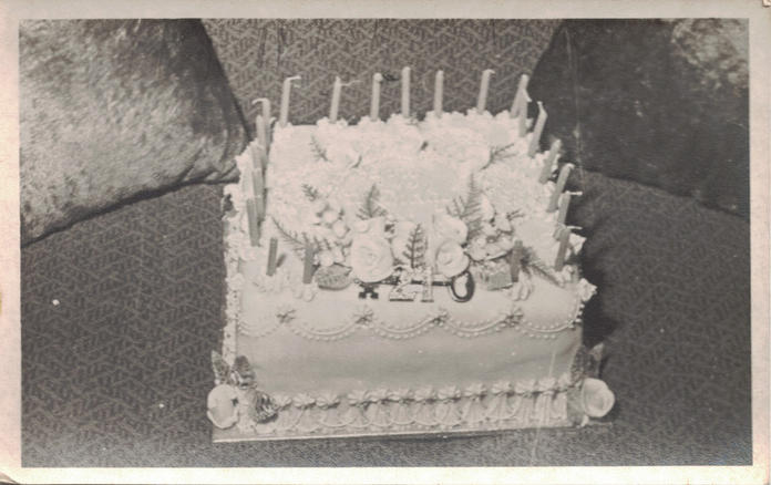 14 - A 21st birthday cake with the tradi