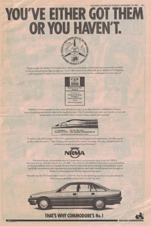 Holden VN Commodore ad - 19 December 1989