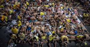 The imprisonment effect - 'World's most overcrowded jail' where prisoners sleep dozens to a cell amid Philippine president's merciless drugs war