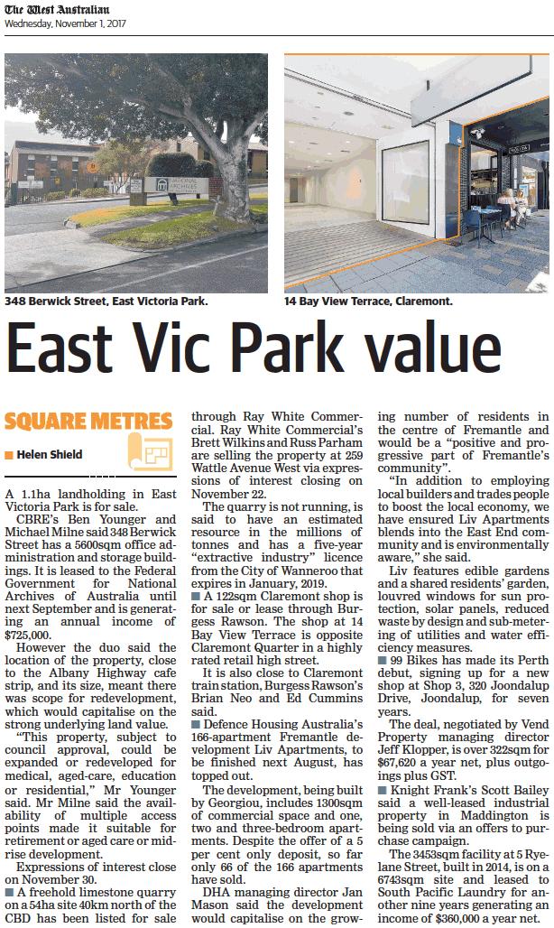 East Park Park value - 01 November 2017