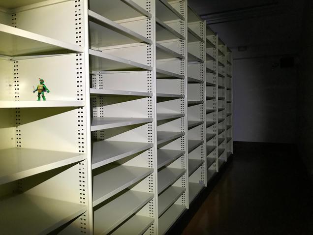 Ninja Turtles in the Records Room in Nat