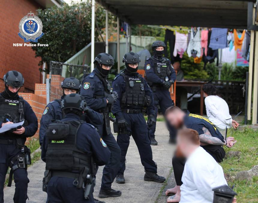 Copy of New South Wales police drug raid
