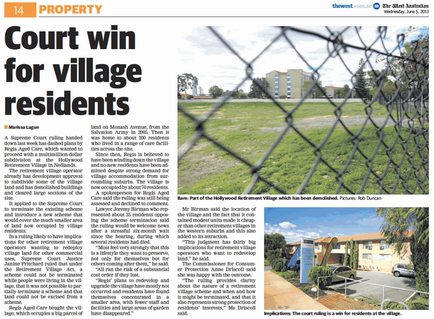 Court win for village residents - 05 Jun