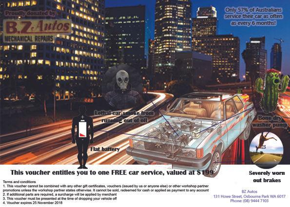 Workplace raffle prize Car Service Flier