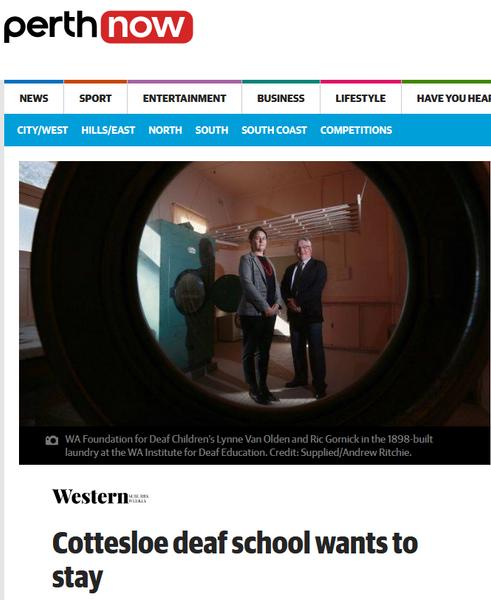 Cottesloe deaf school wants to stay