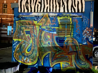 A graffiti tag on a container in Customs Place, Fremantle - 06 June 2021