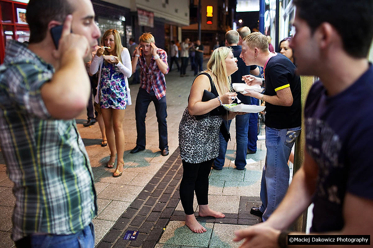 Drunk young people Northbridge pub bar c