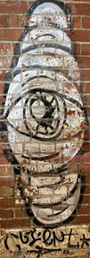 Worm Eye street art at the Fremantle Woolstores - 07 January 2021
