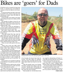 Tom Price BMX Club rider George Saville races BMX in the Pilbara of Western Australia North West Telegraph article by Delphine Jamet