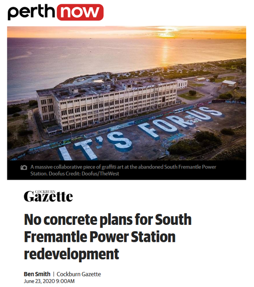 No concrete plans for South Fremantle Power Station redevelopment
