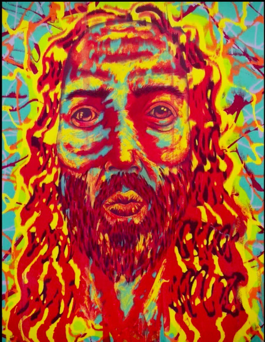 Jim Carrey's 'Electric Jesus': an attempt to render the feeling that Jesus is accepting of who we are.