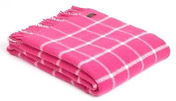 The pink blanket Shirley Mort gave me at