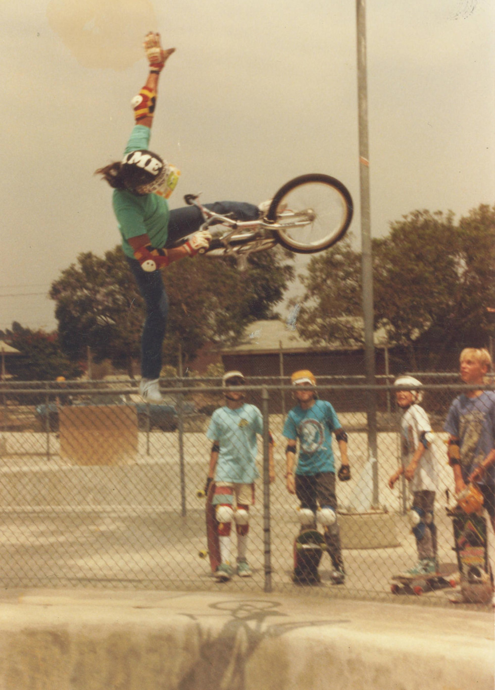 Eddie Fiola rode Skatopia Skatepark with Bob Morales, started ASPA Amateur Skatepark Association King of the series in Lakewood