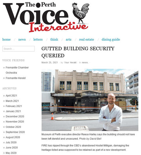 Gutted building security queried