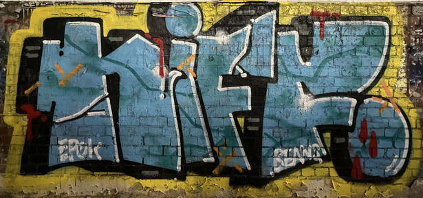 A graffiti tag at the Fremantle Woolstores - 7 January 2021