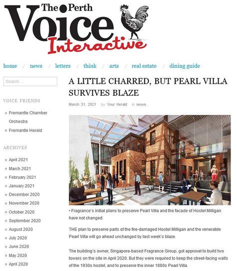 A little charred, but Pearl Villa surviv