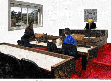 Court Mosaic (For a Retiring Boss)