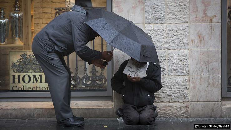 Homeless man streets begging money pover