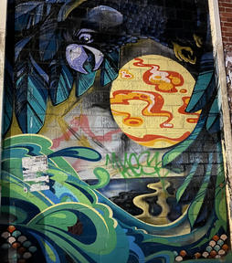 Graffiti and street art at the Fremantle Woolstores - 07 January 2021