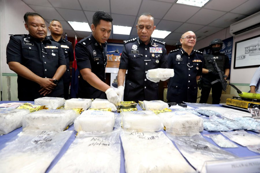 Police, aided by Singapore's Central Narcotics Bureau, busted a major drug pipeline into the local market and the republic with the arrests of 14 people during four raids in 2018