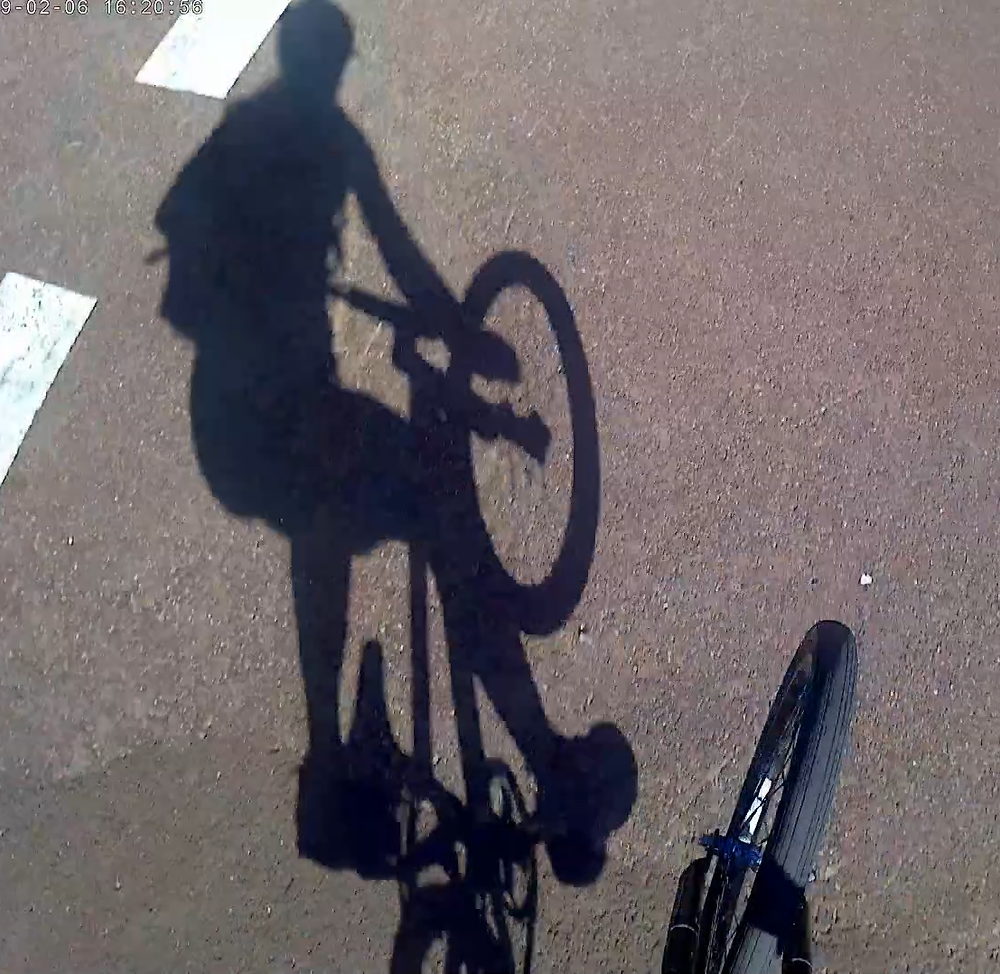 Delphine Jamet riding the BMX to work in Perth