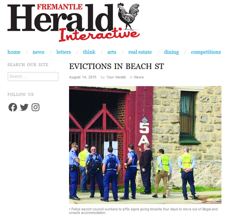 Evictions in Beach Street hostel apartme