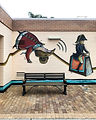 A mural by Steven Buckles at the Bayswater Public Library (2019)