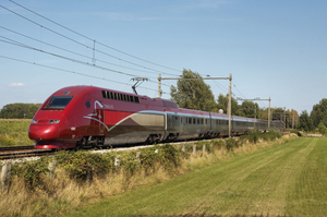 Thalys high-speed 9364 train Amsterdam Centraal Railway Station to Paris France, Stationsplein noud rue de Maubeuge journey flying first class