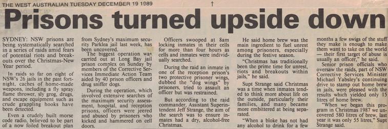 Prisons turned upside down - 19 December 1989