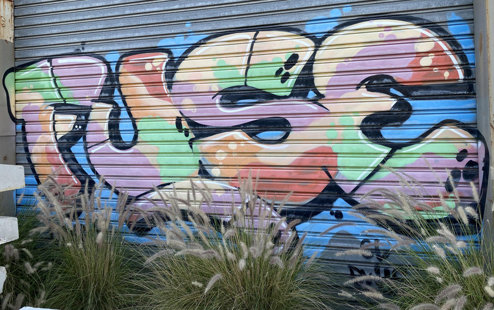 20 - Fuse graffiti tag at the abandoned Fremantle Freight & Storage Warehouse - 02 April 2
