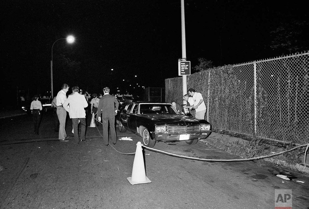 29 July 1976 Donna Lauria Jody Valenti randomly shot dead in their car with Charters arms 44 Bulldog handgun by Son of Sam David Berkowitz