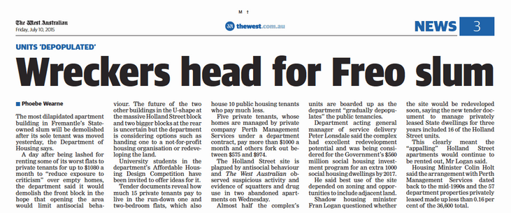 Wreckers head for Freo slum - 10 July 20