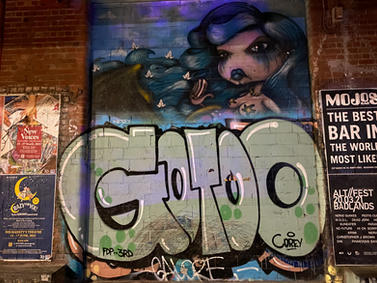 Gotoo graffiti and street art at the Fremantle Woolstores - 07 January 2021