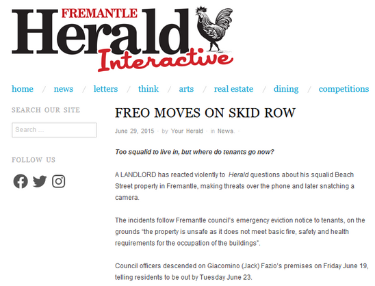 Freo moves on skid row landlord Beach St