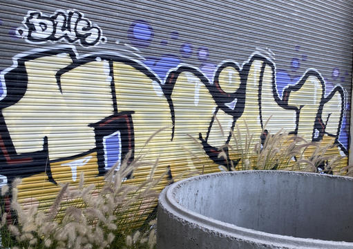 03 - A graffiti tag at the abandoned Fremantle Freight & Storage Warehouse - 02 April 2021