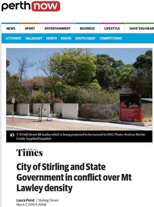 City of Stirling and State Government in