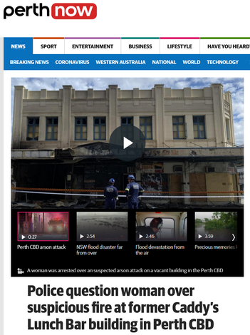 Woman arrested after CBD fire - 22 March