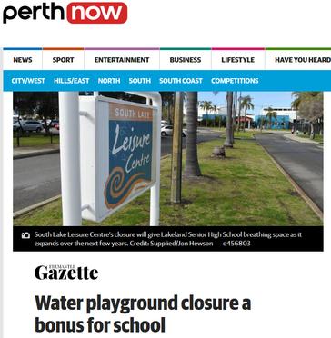 Water playground closure a bonus for sch