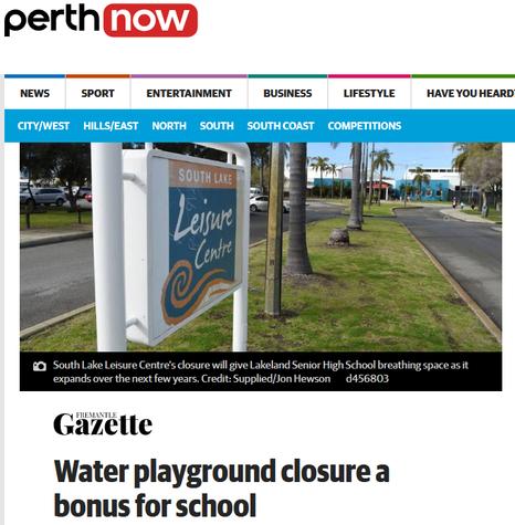 Water playground closure a bonus for school