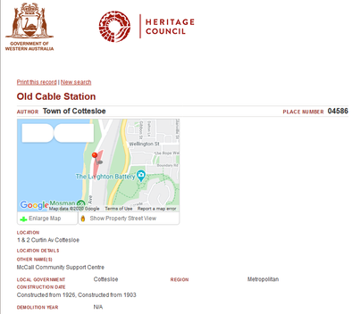 Heritage Council - Old Cable Station McC