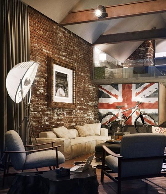 Дизин проект квартиры,дешево, белый диван, темные стены и светлая мебель, столик кофейный