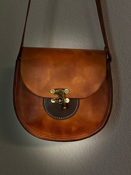 Leather Latch Purse (Brass)