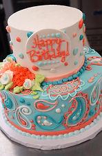 Paisley Birthday Cake