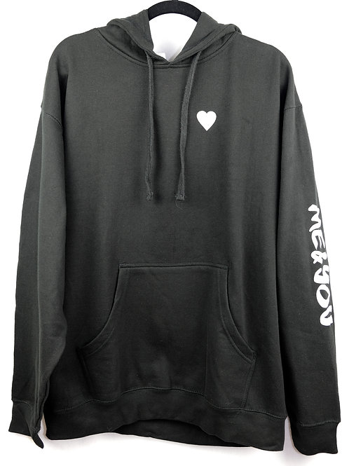 Unisex Shattered Flag Heart Pullover Hoodie